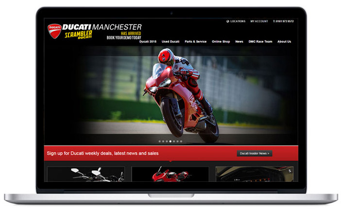 ducati dealer website design