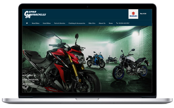 suzuki motorcycle dealer website design