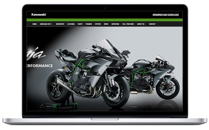 kawasaki dealer website design