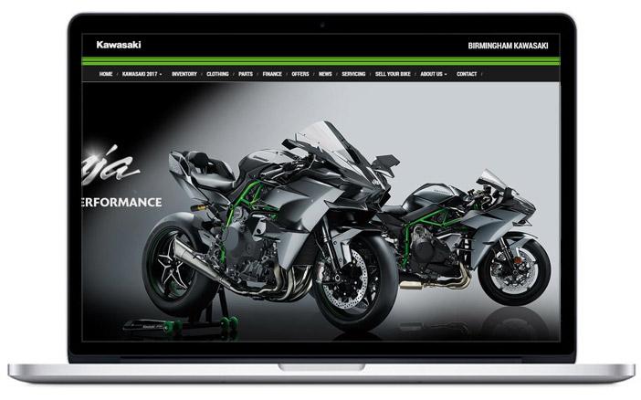 kawasaki dealer website design